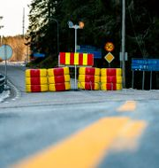 Bild från gränsen vid Halden. Torstein Bøe / TT NYHETSBYRÅN