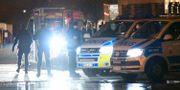 Polisen på plats i Malmö under måndagskvällen.  Johan Nilsson/TT / TT NYHETSBYRÅN