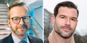 Mikael Damberg (S) och Johan Forssell (M). Arkivbilder. TT