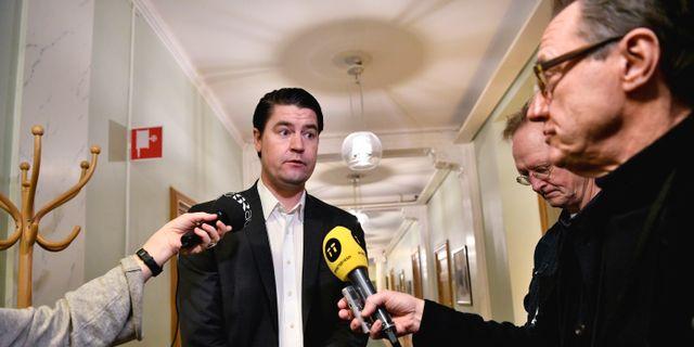 SD:s ekonomisk-politiska talesperson Oscar Sjöstedt.  Jessica Gow/TT / TT NYHETSBYRÅN