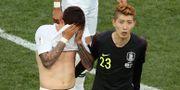 Det var ledsna miner i Sydkoreas lag efter förlusten mot Sverige. LUCY NICHOLSON / BILDBYR N