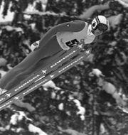 Matti Nykänen vid OS i Sarajevo 1984.  DIETER ENDLICHER / AP