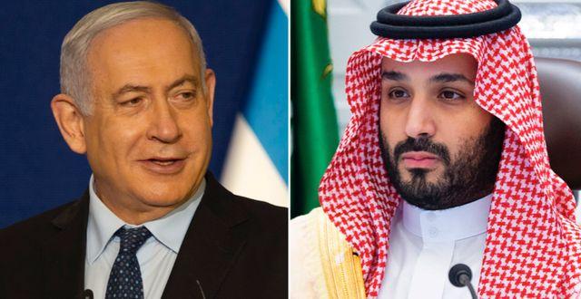 Benjamin Netanyahu/Mohammed bin Salman. TT