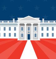 Illustrationsbild Vita huset.  Omni