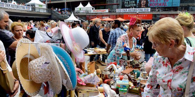 Loppmarknad Sergels torg/Arkivbild. Tomas Oneborg / SvD / TT / TT NYHETSBYRÅN