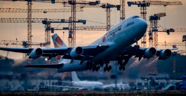 Boeing-plan lyfter från Frankfurt. Arkivbild. Michael Probst / TT NYHETSBYRÅN