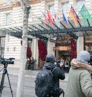 Samtalen sker på Grand Hotel i Wien. Florian Schroetter / TT NYHETSBYRÅN
