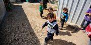Syriska barn i ett flyktingläger i Libanon.  IBRAHIM CHALHOUB / AFP