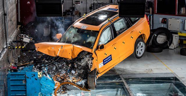 Krocktest från fabriken i Göteborg  Björn Larsson Rosvall/TT / TT NYHETSBYRÅN