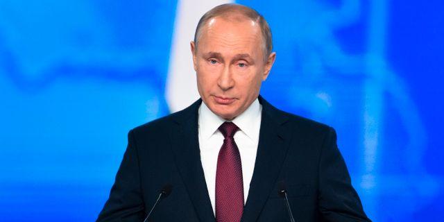 Putin under dagens tal.  Alexander Zemlianichenko / TT NYHETSBYRÅN