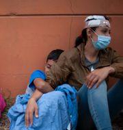 Migranter från Honduras i Guatemala.  Sandra Sebastian / TT NYHETSBYRÅN