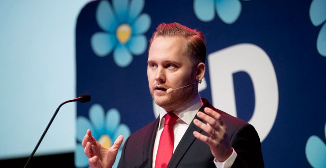 Henrik Vinge, SD:s nye vice partiordförande. Pavel Koubek/TT / TT NYHETSBYRÅN