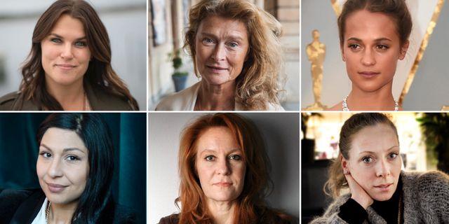 Mia Skäringer, Lena Endre, Alicia Vikander, Bahar Pars, Maria Lundqvist och Eva Röse är några av de som skrivit under uppropet #tystnadtagning.  TT