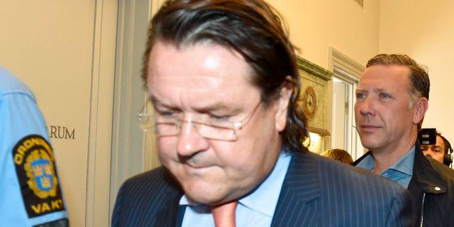 Försvarsadvokaten Per Liljekvist och skådespelare Mikael Persbrandt. Roger  Vikström   TT   TT NYHETSBYRÅN. Advokat-åtalet 1cc336a378e59