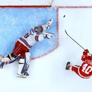 Henrik Zetterberg och Henrik Lundqvist. Gregory Shamus / GETTY IMAGES NORTH AMERICA