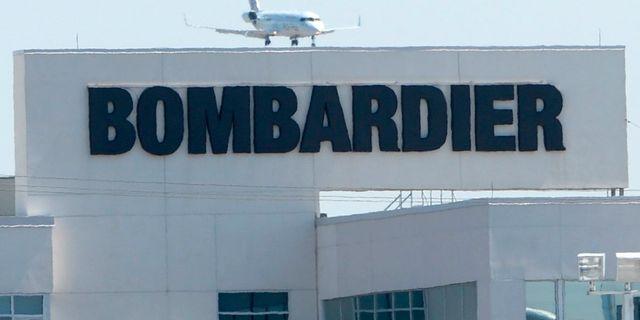 Arkivbild: En Bombardierfabrik i kanadensiska Montreal.  Ryan Remiorz / TT / NTB Scanpix