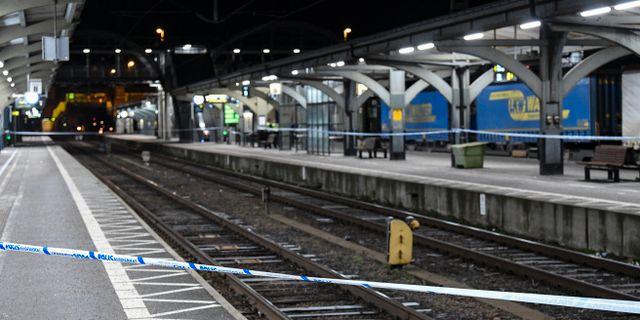 Avspärrningar på centralstationen i Lund i december. Johan Nilsson/TT / TT NYHETSBYRÅN