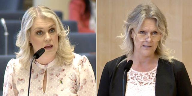 Lena Hallengren och Ann-Christine From Utterstedt. Riksdagen