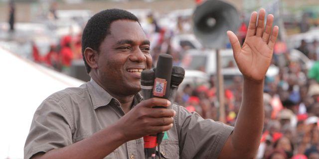 Hakainde Hichilema. Arkivbild från 2015. Tsvangirayi Mukwazhi / TT NYHETSBYRÅN/ NTB Scanpix