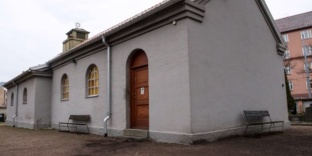 Judiska kapellet i Malmö attackerades igår. Johan Nilsson/TT / TT NYHETSBYRÅN