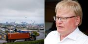 Göteborgs hamn och Peter Hultqvist (S). Arkivbilder. TT