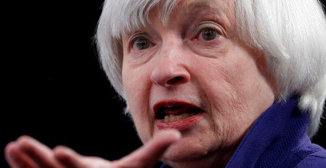 Arkivbild: Forne Fed-ordföranden Janet Yellen.  JONATHAN ERNST / TT NYHETSBYRÅN