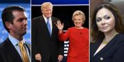 Arkivbilder. Donald Trump Jr, Donald Trump och Hillary Clinton under presidentvalskampanjen, Natalia Veselnitskaya. TT
