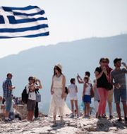 Akropolis i Aten, arkivbild. Petros Giannakouris / TT NYHETSBYRÅN
