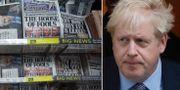 Brittiska tidningar/Boris Johnson.  TT.