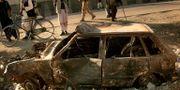 Effekterna av ett al-Qaidadåd i Afghanistan 2005. TOMAS MUNITA / AP
