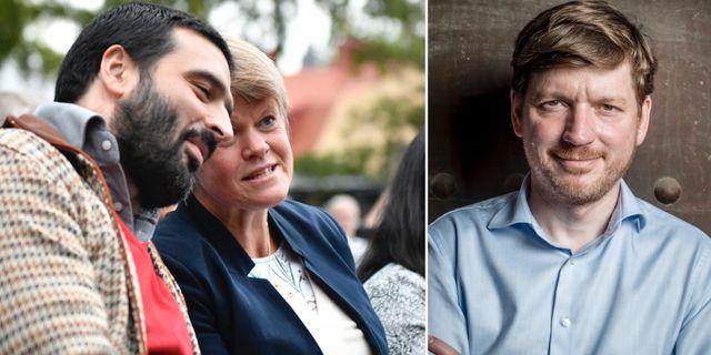Ali Esbati och Ulla Andersson (V)/Martin Ådahl (C). TT
