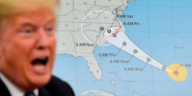 Donald Trump och den amerikanska regeringen gör sig redo för stormen Florence. Susan Walsh / TT / NTB Scanpix