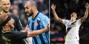 Yura Movsisyan skallar Daniel Sundgren/Zlatan Ibrahimovic. TT