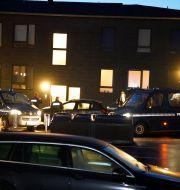 Bild från polisens insats i Ålborg. Henning Bagger / TT NYHETSBYRÅN