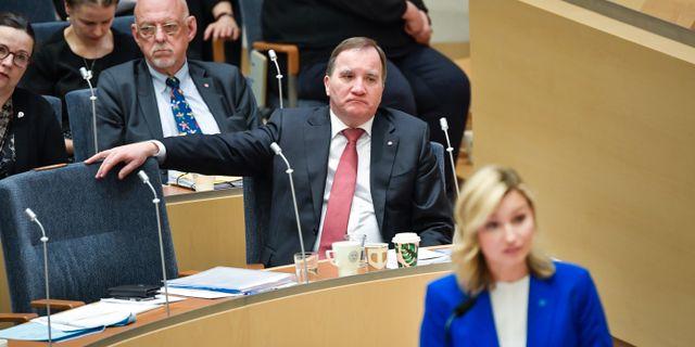 Stefan Löfven och Ebba Busch.  Janerik Henriksson/TT / TT NYHETSBYRÅN