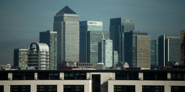 HSBC:s kontor i Londons finansdistrikt. Arkivbild. Matt Dunham / TT NYHETSBYRÅN