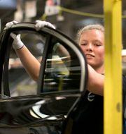 Volvo Cars fabrik i Göteborg. Arkivbild.  Björn Larsson Rosvall / TT / TT NYHETSBYRÅN