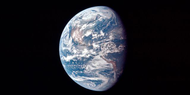 Bild på jorden från rymdresan 1969. TT NYHETSBYRÅN/ NTB Scanpix