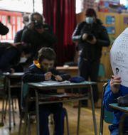 Skola i Chile. Esteban Felix / TT NYHETSBYRÅN
