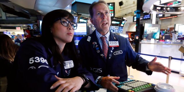 Traders på Wall Street.  Richard Drew / TT NYHETSBYRÅN/ NTB Scanpix