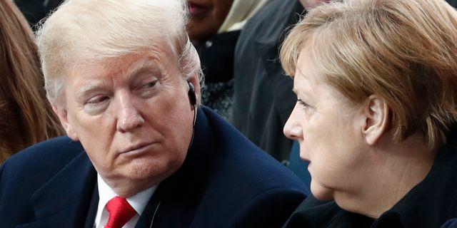 Donald Trump och Angela Merkel under en träff i november 2018. Benoit Tessier / TT NYHETSBYRÅN