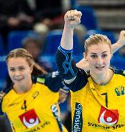 Linn Blohm och Olivia Mellegård. LUDVIG THUNMAN / BILDBYRÅN