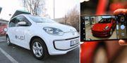 Populäraste begagnande elbilarna på Blocket: VW:s e-Up och Teslas Model 3. Wikimedia/TT