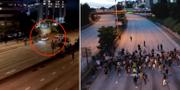 Bild från videon som sprids från händelsen/Demonstrationer i Seattle, arkivbild. Twitter/TT