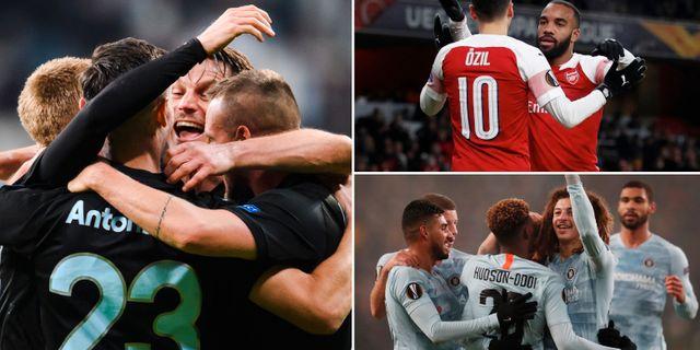 Malmö FF,  Arsenal, Chelsea.  Bildbyrån.