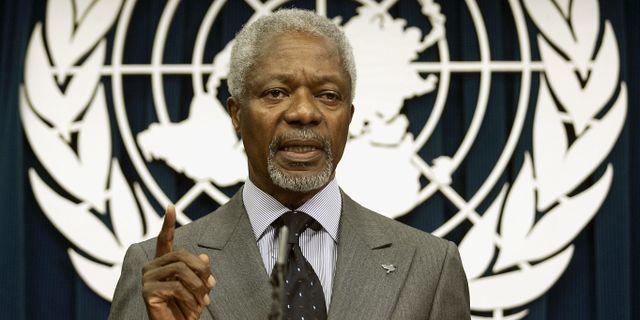 Kofi Annan.  TIMOTHY A. CLARY / AFP