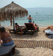 Strand i Grekland. Yorgos Karahalis / TT NYHETSBYRÅN