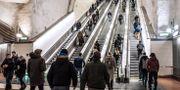 Rulltrappa till pendeltågstationen Stockholm City. Arkivbild. Tomas Oneborg/SvD/TT / TT NYHETSBYRÅN