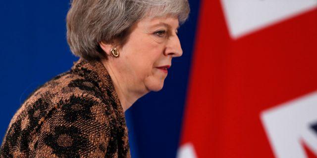 Theresa May, Storbritanniens premiärminister.  Alastair Grant / TT NYHETSBYRÅN/ NTB Scanpix