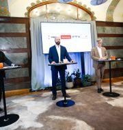 Veli-Pekka Säikkälä, Mattias Dahl, Martin Wästfelt och Johan Ingelskog. Fredrik Persson/TT / TT NYHETSBYRÅN